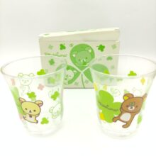 Rilakkuma 2 Glass San-X Kawaii 9cm* 7,5cm Japan kawai