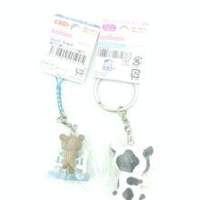 San-X Rilakkuma 2 keychain Soft Cream Dararan 2